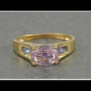 14kt Yellow Gold Kunznite & Tanzanite Ring